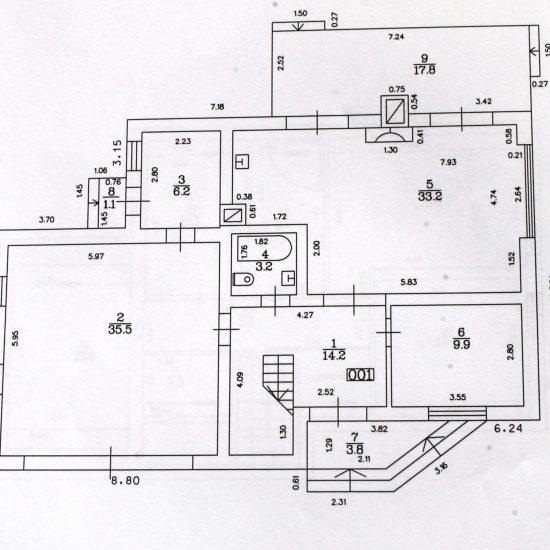 Mājas plānojums - Otrais stāvs